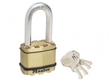 Excell Brass Finish 50mm Padlock 4-Pin - 51mm Shackle